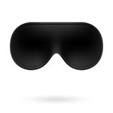 Black eye sleep mask Stock Photo