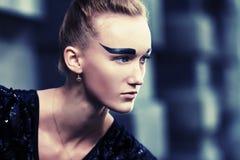 Black eyebrows Stock Photography