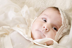 Black eyed baby. Royalty Free Stock Image