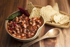 Black eyed beans soup Stock Image