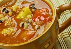 Black-Eyed Pea Soup. With Tomatoes Royalty Free Stock Photo