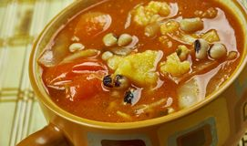 Black-Eyed Pea Soup. With Tomatoes Stock Photo