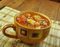 Black-Eyed Pea Soup. With Tomatoes Stock Images