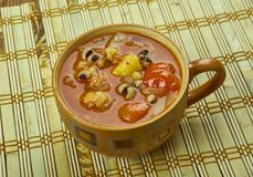Black-Eyed Pea Soup. With Tomatoes Stock Photos