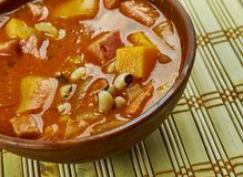 Black-Eyed Pea Stew. With Sausage Royalty Free Stock Photo