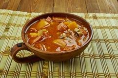 Black-Eyed Pea Stew. With Sausage Royalty Free Stock Photos