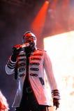 Black Eyed Peas (banda), se realiza en el Cornella-EL Prat de Estadi fotos de archivo libres de regalías