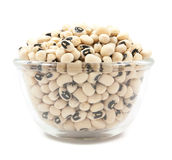 Black eyed peas beans on glass cup isolated Royalty Free Stock Photography