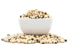 Black eyed peas beans  isolated. On a white background Royalty Free Stock Images