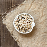 Black eyed peas in a bowl Stock Images