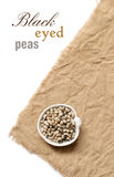 Black eyed peas in a bowl Royalty Free Stock Image
