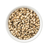 Black-eyed Peas in a Ceramic Bowl Royalty Free Stock Image