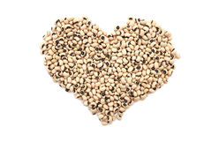Black eyed peas in a heart shape Royalty Free Stock Photo