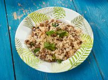 Black Eyed Peas and Rice Stock Photography