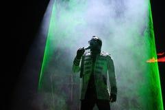 Black Eyed Peas se realiza en Barcelona foto de archivo