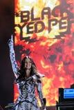 Black Eyed Peas se realiza en Barcelona fotos de archivo libres de regalías