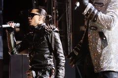 Black Eyed Peas se realiza en Barcelona imagen de archivo libre de regalías