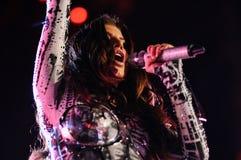 Black Eyed Peas se realiza en Barcelona imagenes de archivo