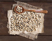 Black eyed peas with a spoon Royalty Free Stock Image