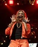Black Eyed Peas utför i konsert arkivfoton