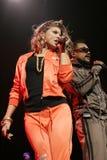 Black Eyed Peas utför i konsert royaltyfri foto