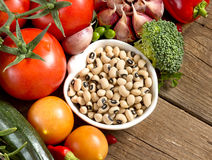 Black eyed peas and vegetables Royalty Free Stock Photography