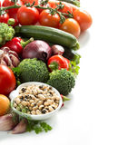 Black eyed peas and vegetables Stock Image