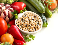 Black eyed peas and vegetables Stock Photo