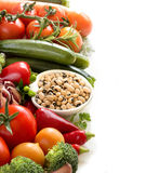 Black eyed peas and vegetables Stock Images
