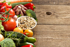 Black eyed peas and vegetables Royalty Free Stock Images