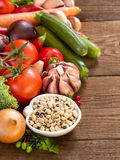 Black eyed peas and vegetables Royalty Free Stock Image