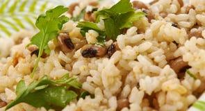 Black Eyed Peas y arroz fotografía de archivo