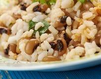Black Eyed Peas y arroz foto de archivo libre de regalías