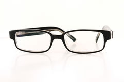 Black eyeglasses Stock Photos