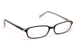 Black eyeglasses. Isolated on white background Stock Photo