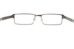 Black eyeglasses. Isolated on white background Royalty Free Stock Images
