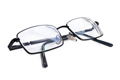 Black eyeglasses Stock Photos