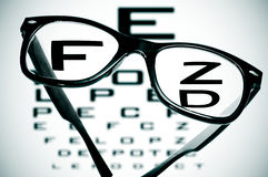 Black eyeglasses Royalty Free Stock Photography