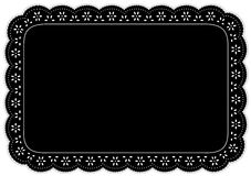 Black Eyelet Place Mat Royalty Free Stock Photos