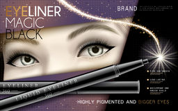 Black eyeliner ad Royalty Free Stock Photos