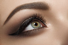 Black eyeliner beauty shoot. Royalty Free Stock Image