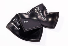 black förvridna tangenter Arkivfoton