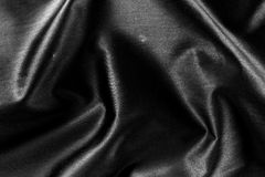 Black Fabric Background Royalty Free Stock Photos