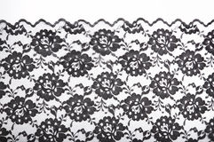 Black fabric background Royalty Free Stock Images