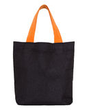 Black Fabric Bag On White Stock Image