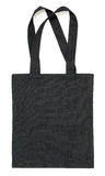Black fabric bag on white Stock Photography