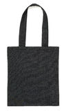 Black fabric bag on white Royalty Free Stock Photography