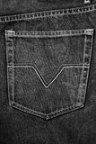 Black fabric jean pocket Stock Images