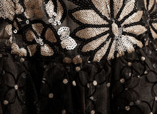Black fabric with ornament Royalty Free Stock Photo