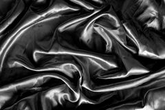Black fabric silk for background Stock Image